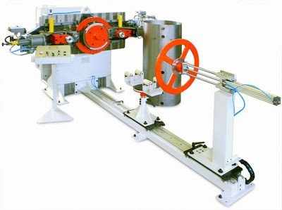 Flanging Machine with horizontal axis for bolier