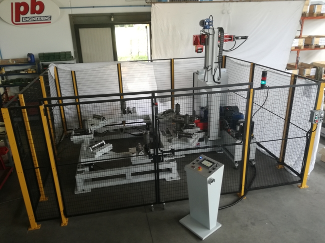 Machine  with electric drive motors for Big parts up 2500mm
